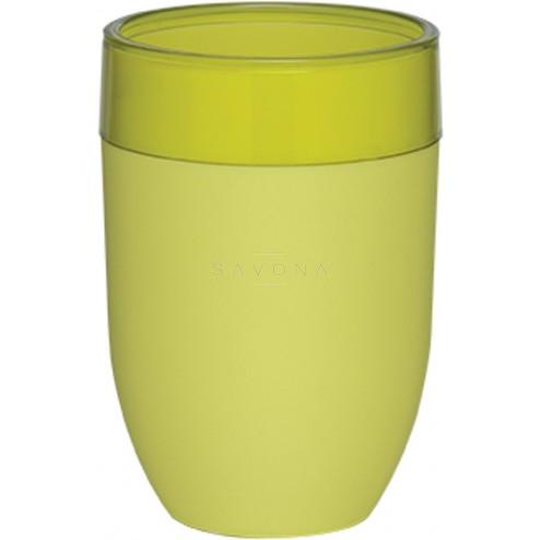 Vonios stiklinė Sealskin Bloom, laimo, pastatoma
