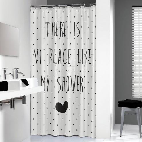 Vonios dušo užuolaida Sealskin Lyrics, juoda (200 x 180)