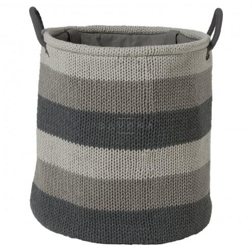 Skalbinių krepšys Sealskin Knitted, pilkas