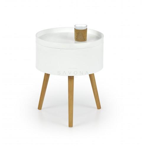 Kavos staliukas SUPRA, 38/48 cm, balta
