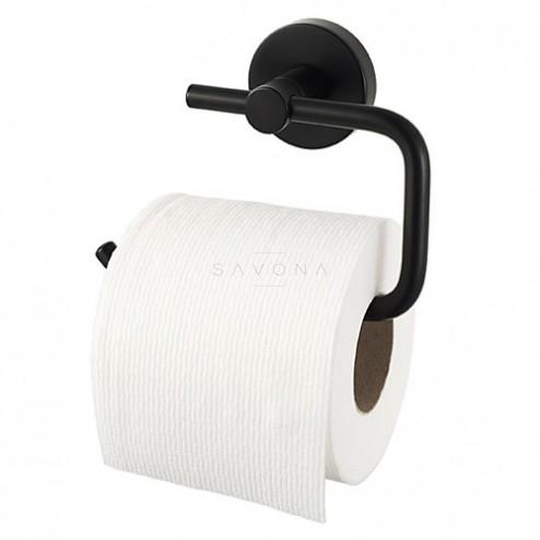 Kosmos Black WC popieriaus laikiklis be dangtelio, juodas