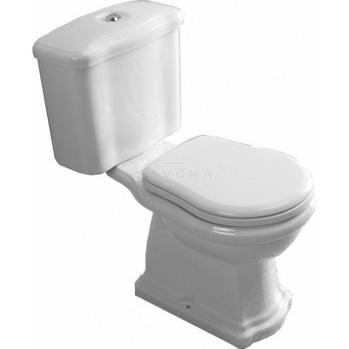 Kombi WC Retro pastatomas unitazas su nuleidimo mechanizmu ir dangčiu, horizontalus nuleidimas