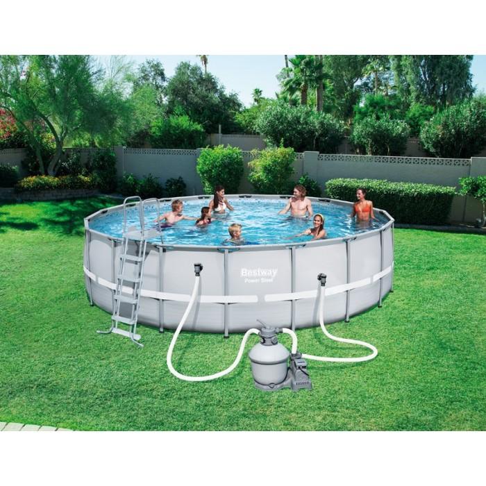 X bestway apvalus karkasinis lauko baseinas for Bestway pool hagebau