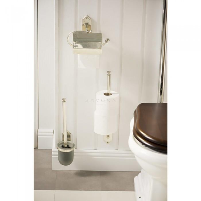 vintage wc tualeto epetys su stikliniu laikikliu. Black Bedroom Furniture Sets. Home Design Ideas