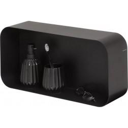 Sealskin Brix sieninė lentyna 24x50, juoda
