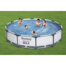 3.66m x 76cm Bestway apvalus karkasinis lauko baseinas STEEL PRO™ MAX