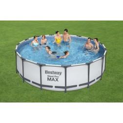 4.57m x 1.22m Bestway apvalus karkasinis lauko baseinas STEEL PRO™