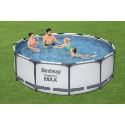 3.66m x 1.00m Bestway apvalus karkasinis lauko baseinas STEEL PRO™