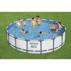 5.49m x 1.22m Bestway apvalus karkasinis lauko baseinas STEEL PRO™