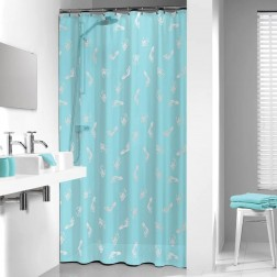 Vonios dušo užuolaida Sealskin Amy, mėlyna (180x200)