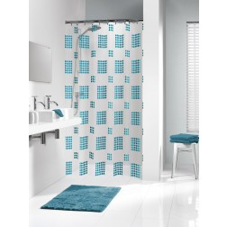 Vonios dušo užuolaida Sealskin Happy, mėlyna (180x200)