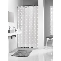 Vonios dušo užuolaida Sealskin Shadows, balta (180x200)