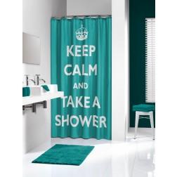 Vonios dušo užuolaida Sealskin Testo, aqua (180x200)