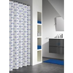 Vonios dušo užuolaida Sealskin Nemo, mėlyna (180x200)