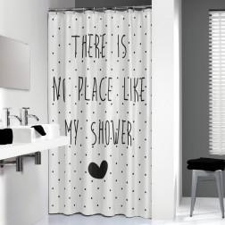 Vonios dušo užuolaida Sealskin Lyrics, juoda (180x200)