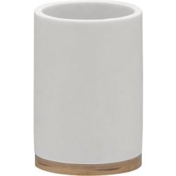 Vonios stiklinė Sealskin Grace, balta, pastatoma