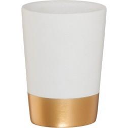 Vonios stiklinė Sealskin Glossy, auksinė, pastatoma