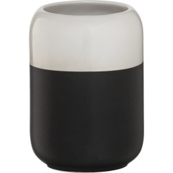 Vonios stiklinė Sealskin Sphere, juoda, pastatoma