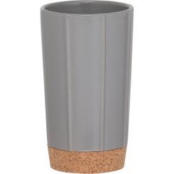 Vonios stiklinė Sealskin Cork, pilka, pastatoma