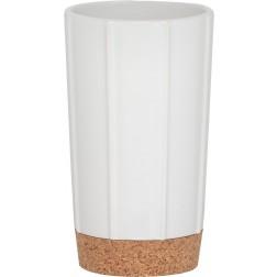 Vonios stiklinė Sealskin Cork, balta, pastatoma