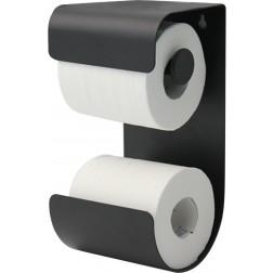 Tualetinio popieriaus laikiklis Sealskin Brix, juodas, pakabinamas