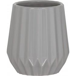 Vonios stiklinė Sealskin Arte, pilka, pastatoma