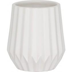 Vonios stiklinė Sealskin Arte, balta, pastatoma
