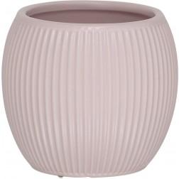 Vonios stiklinė Sealskin Convex, rožinė, pastatoma