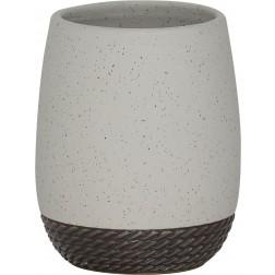 Vonios stiklinė Sealskin Braid, pilka, pastatoma
