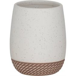 Vonios stiklinė Sealskin Braid, smėlio, pastatoma