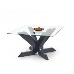 Kavos staliukas AISHA, 90/90/51 cm, juoda