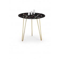 Kavos staliukas ALIA, 50/44 cm, aukso