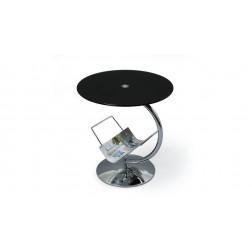 Kavos staliukas ALMA, 45/50 cm, juoda