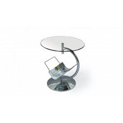 Kavos staliukas ALMA, 45/50 cm, permatoma