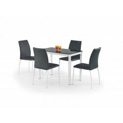 Valgomojo stalas ARGUS, 100/60/75 cm, juoda