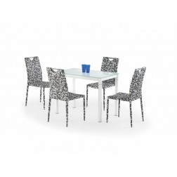 Valgomojo stalas ARGUS, 100/60/75 cm, kreminė