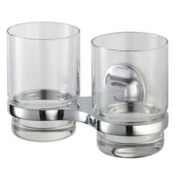 Aspen dviguba stiklinė su laikikliu