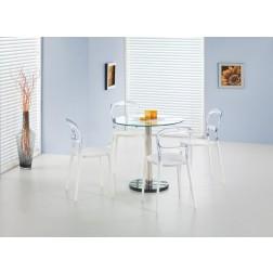 Valgomojo stalas CYRYL, 80/74 cm, permatoma