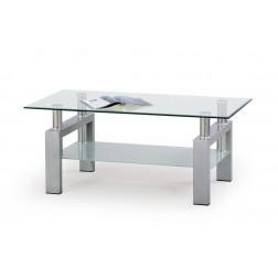 Kavos staliukas DIANA, 110/60/45 cm, sidabrinė