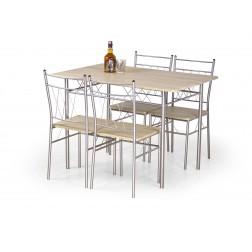 Valgomojo komplektas FAUST + 4 kėdės