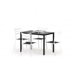Valgomojo stalas FIDEL, 110/70/76 cm, juoda