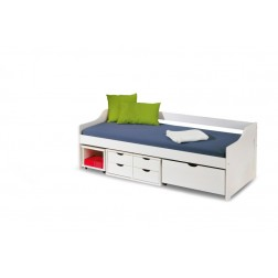 Vaikiška lova FLORO, 209/96/72 cm, balta