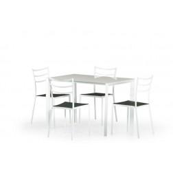 Valgomojo stalas FRED, 110/70/76 cm, kreminė