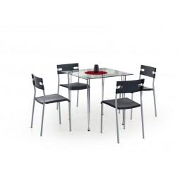 Valgomojo stalas JASPER, 80/80/74 cm, permatoma