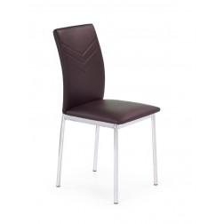 Metalinė kėdė K137, 43/49/92 cm, ruda