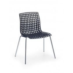 Metalinė kėdė K160, 44/60/77 cm, juoda