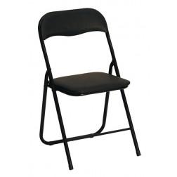 Metalinė kėdė K5, 44/48/82 cm, juoda