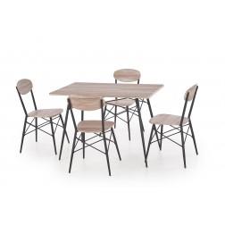 Valgomojo komplektas KABIR + 4 kėdės