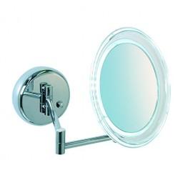 Kosmetinis veidrodis Floriana, montuojamas , chromas , su apšvietimu , 5x didinimas