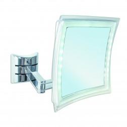 Kosmetinis veidrodis Palini, montuojamas , chromas , su apšvietimu , 5x didinimas